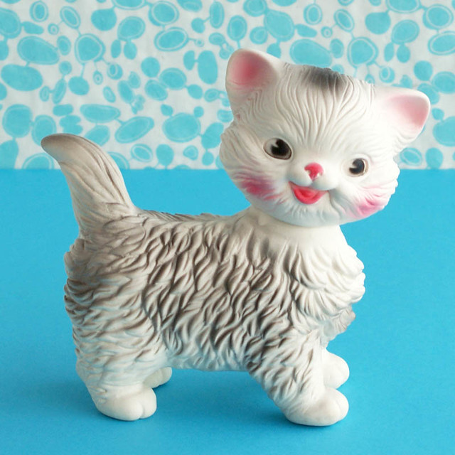 Vintage Edward Mobley Squeaky Cat