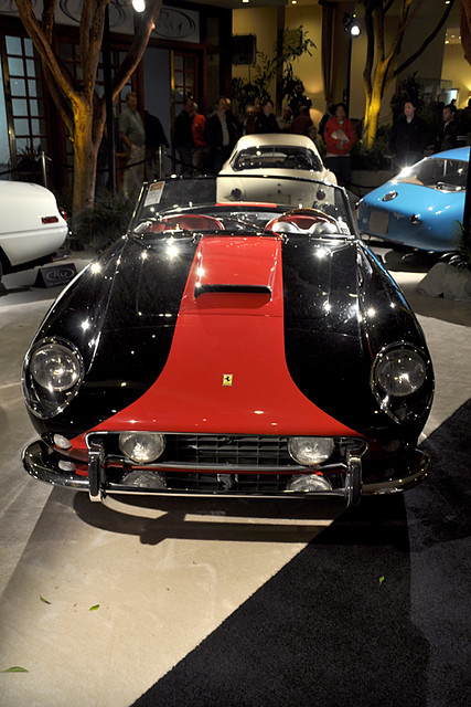black-red Ferrari