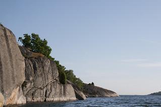 Cliffs at sunset, Tjärö