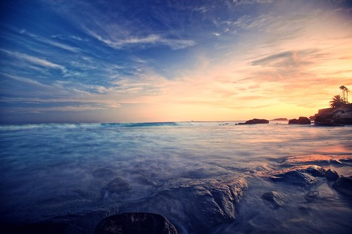 ocean california longexposure sunset sky cliff cloud seascape color beach silhouette rock vintage wave atmosphere wideangle tone lagunabeach soaked lomostyle lastshot heislerpark ef1635mmf28liiusm