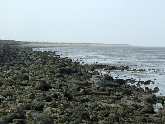 The beach north of Grain