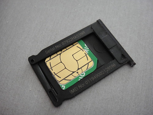 MicroSIM in MicroSIM Adapter & IPhone SIM-Holder | by renatomitra