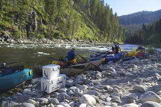 Put-in at for the South Fork   by Northwest Rafting Company