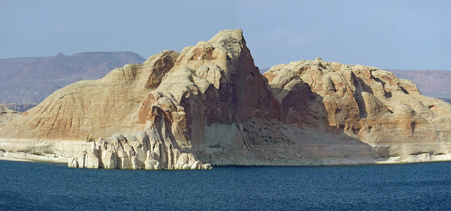 Stitched view of the landscape at Lake Powell