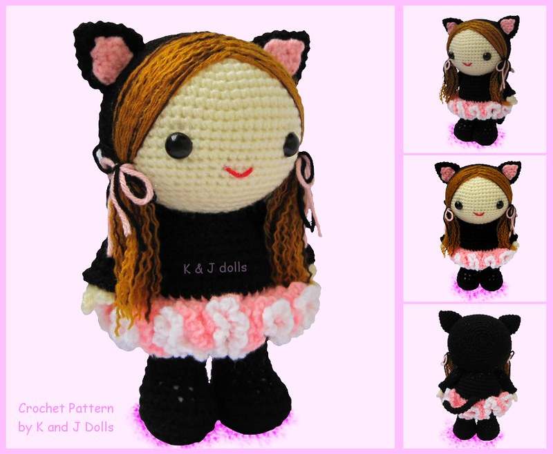 Ballerina cat doll crochet pattern - Amigurumi Today | 658x800