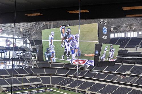 Big screen and Field from Press Box | by Erin Costa