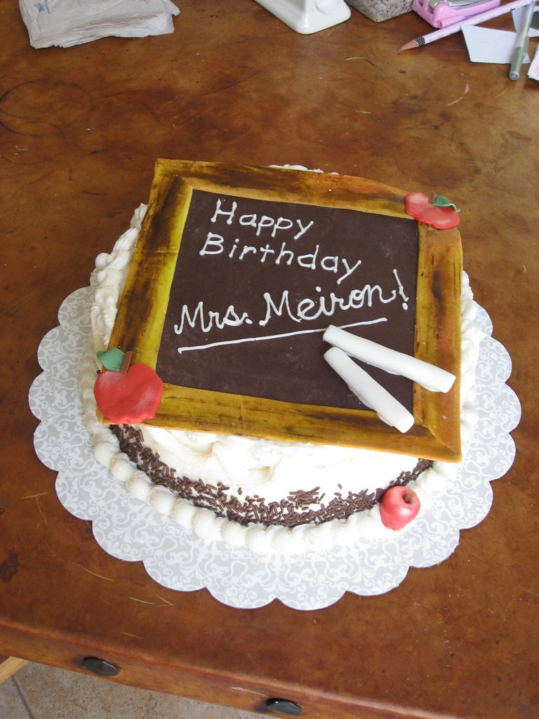 Stupendous Teacher Birthday Cake Modeling Chocolate Handpainted Mm F Flickr Funny Birthday Cards Online Sheoxdamsfinfo