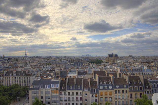 Paris from the Centre Georges Pompidou