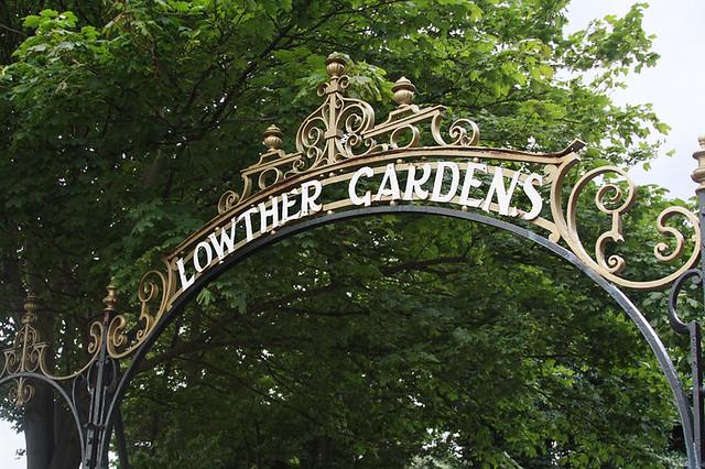 Entrance to Lowther Gardens, Lytham, Lancashire, UK