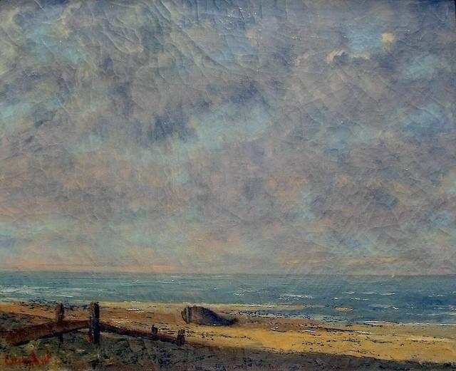 Gustave Courbet:  Paysage de mer (1872 )
