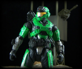 McFarlane Halo Reach - Mark V Spartan [Green/Steel] | Flickr
