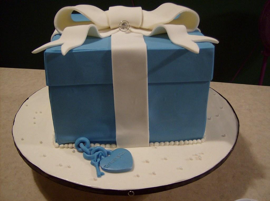 Awe Inspiring Tiffany Co Birthday Cake True Homemade Tiffany Co Sty Flickr Funny Birthday Cards Online Benoljebrpdamsfinfo