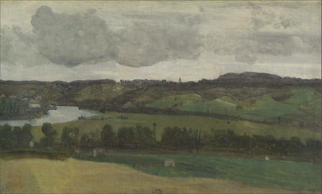 Camille Corot: The Seine near Rouen (1829-33)