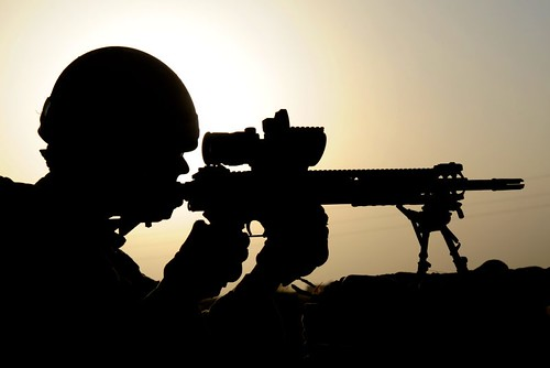 uk sunset afghanistan silhouette sunrise army military free optical british op sharpshooter operation defense defence sights aiming helmand lashkargah