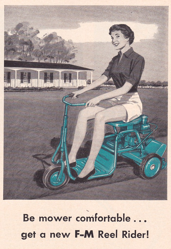 Fairbanks-Morse Lawn Mower Ad 1957 | Heather David | Flickr