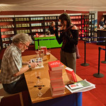 the end of the Iain Banks booksigning |