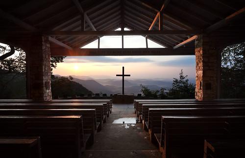 church sunrise rustic chapel appalachian ymca blueridge openair prettyplace campgreenville cedarmountain