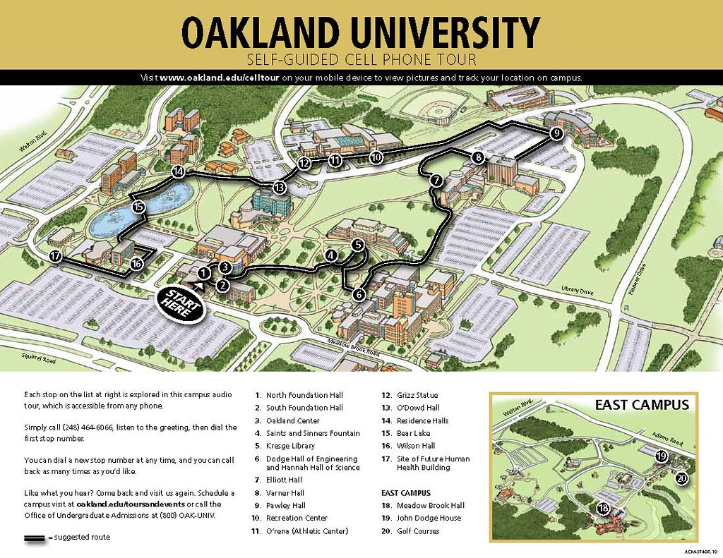 Oakland University Campus Map >> Oakland University Cell Phone Tour Map Oncell Flickr