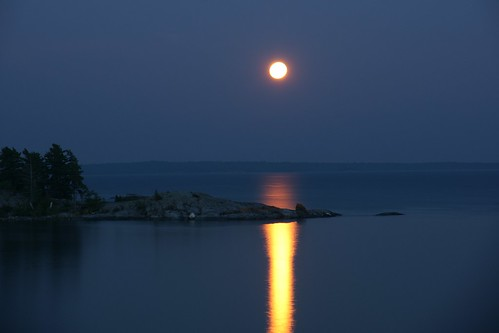 moon ontario canada night landscape nightscape fullmoon dslr northchannel risingmoon