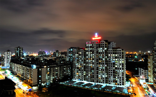 urban night buildings lights long exposure dusk d5000 antopix