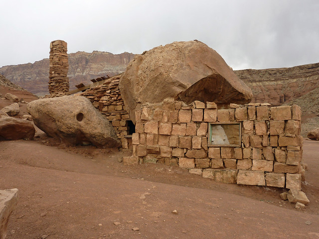 Unusual houses near the Cliff Dwellers Lodge