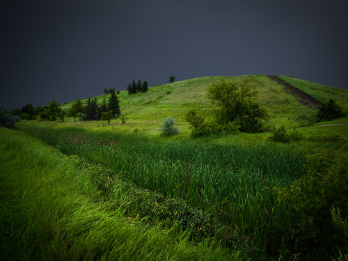 park canada storm green nature clouds landscape garbage winnipeg cloudy hill manitoba bxk