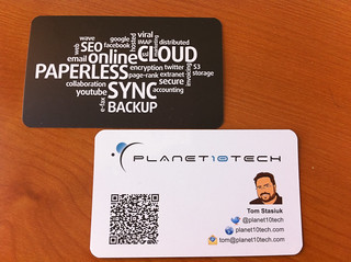 Planet10tech business card with QR Code | by Tomasz Stasiuk