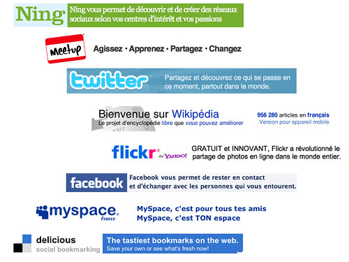 Les promesses de Flickr, Facebook, Ning, Twitter, Delicious… | by luc legay