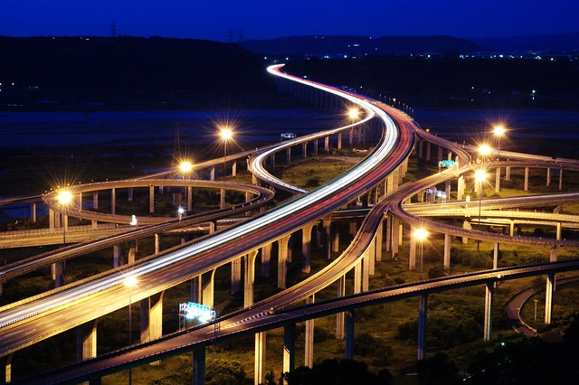 in Taiwan Taichung . 台灣台中 . most beautiful curve of middle Taiwan