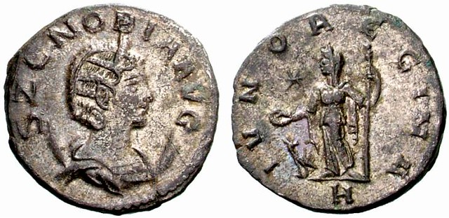 RI193 A Rare Roman Silver Antoninianus of the Palmyrene Queen Zenobia, Regent for Her Infant Son Vabalathus, Among the Finest Known