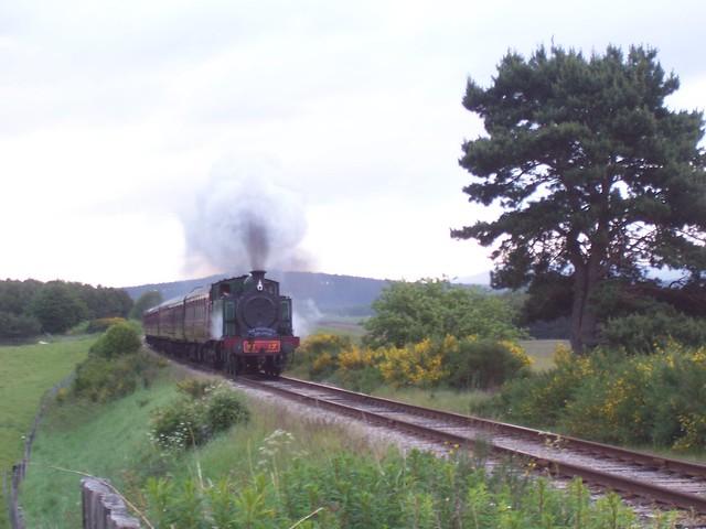 Steam train, Strathspey Railway near Aviemore, 19th June 2009
