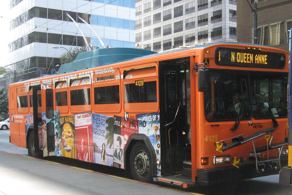King County Metro 2001 Gillig Phantom Trolley 4129  Hawaii