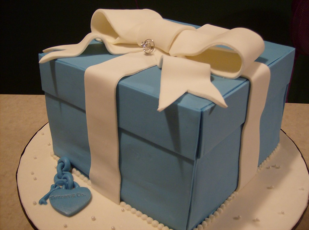 Awesome Tiffany Co Birthday Cake True Homemade Tiffany Co Sty Flickr Funny Birthday Cards Online Fluifree Goldxyz