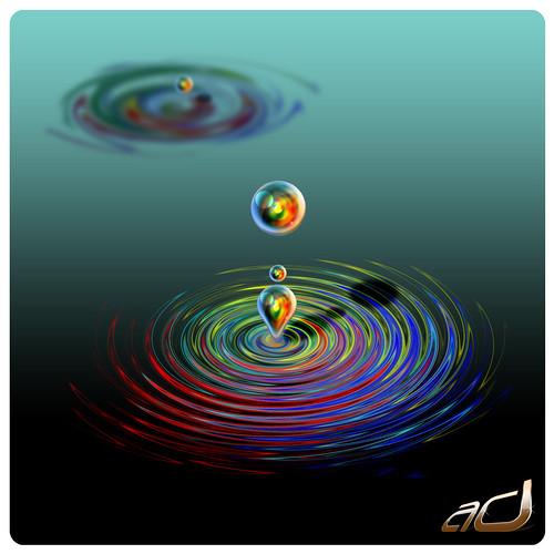 experimenting a droplet.......Adobe Photoshop CS3 | by justDONQUE.images
