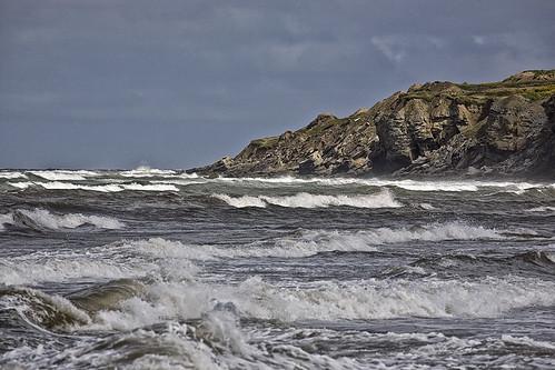 surf waves wind headlands seashore capebretonisland newvictoriabeach