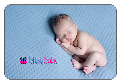 baby james blue blanket | by Bitsy Baby Photography [Rita]