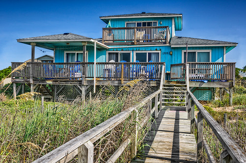 wood blue sky house architecture nc nikon dunes north bluesky deck carolina outerbanks emeraldisle hdr highdynamicrange sanddunes beachhouse d90 hdrphotography nikond90 highdynamicrangephotography aclearview