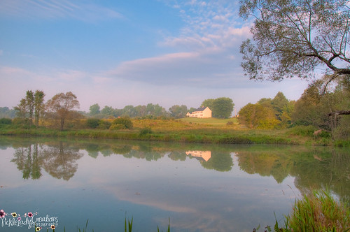 reflection fog sunrise fence nikon farm maine scenic dirtroad hdr d90 18105mm sabbatus