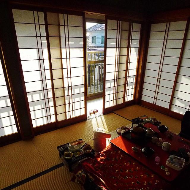 RYOKAN (Japanese inn) in morning