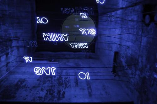 blue signs neon symbol letters blau ich unna lightart janvanmunster rainer❏