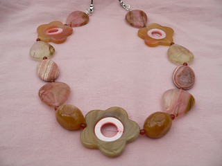 Agate and Tiger Skin Quartz Necklace