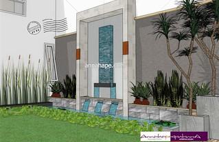 desain kolam ikan dan taman minimalis | designannahape