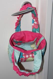Front & inside pocket - pink ruffle handbag | by unplain-Jane
