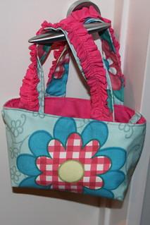 Front - pink ruffle handbag | by unplain-Jane
