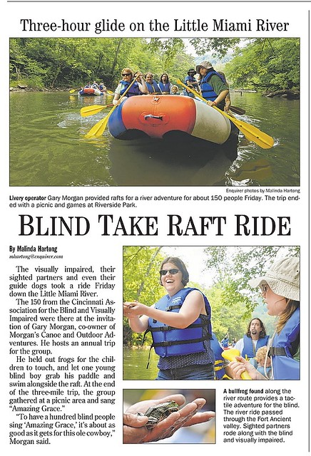 Rafting with Sight impaired