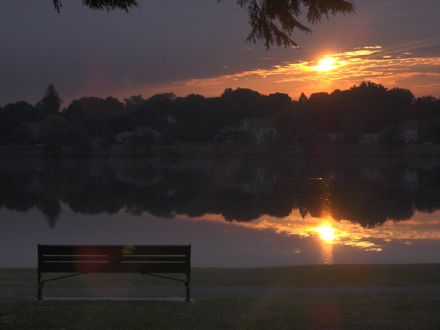 sunrise over Lake Quannapowitt; Wakefield, MA 2010