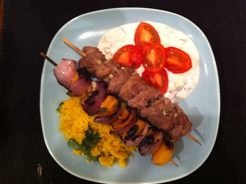 Moroccan-Spiced Lamb Kebabs   by phy5ics
