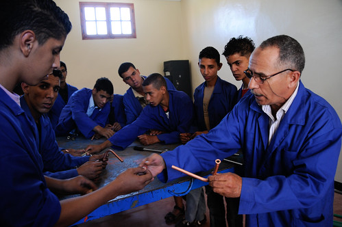 Students at a vocational education and training center   by World Bank Photo Collection