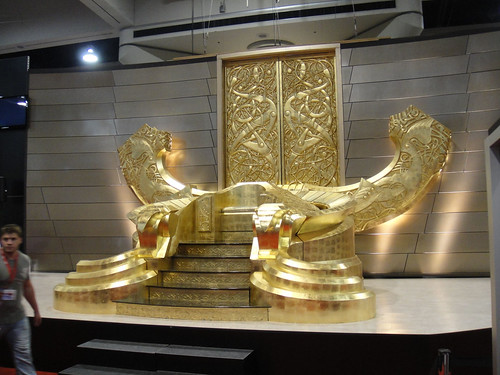 Comic-Con 2010 - Marvel booth - Odin's throne | by Doug Kline
