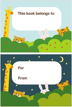 image relating to Printable Bookplates called Printable bookplates with hiding pets printable station